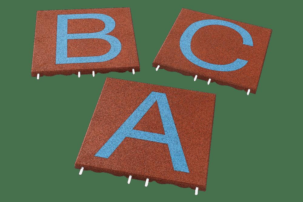 Резиновая плитка с буквами и цифрами