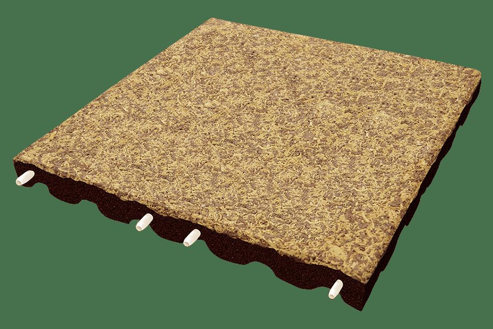 Резиновая плитка с имитацией травы и дерева