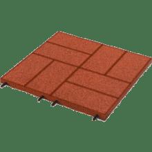 резиновая плитка с имитацией брусчатки