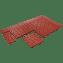 тротуарная резиновая блоковая плитка